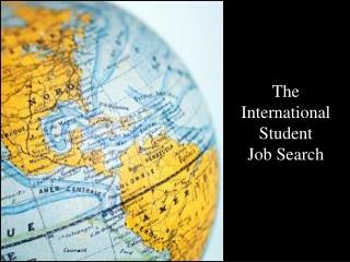 The International  Student  Job Search
