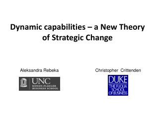 Dynamic capabilities – a New Theory of Strategic Change