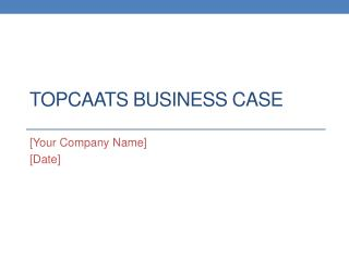 TopCAATs Business Case
