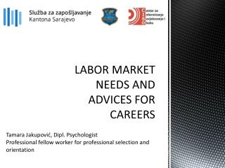LABOR MARKET NEEDS AND ADVICES FOR CAREERS