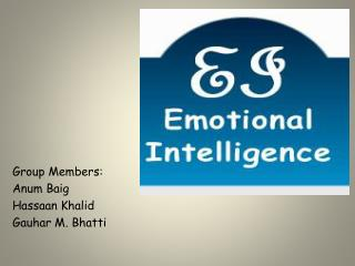 Group Members: Anum Baig Hassaan  Khalid Gauhar  M.  Bhatti