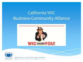 California WIC  Business-Community Alliance