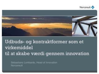 Udbuds -  og kontraktformer som  et  virkemiddel til at skabe værdi gennem  innovation