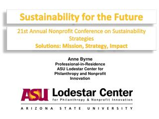 Sustainability for the Future