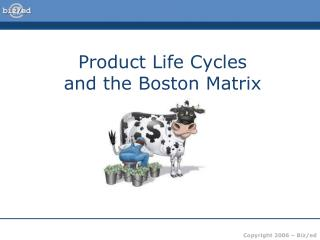 Product Life Cycles  and the Boston Matrix