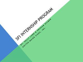 SFI Internship Program