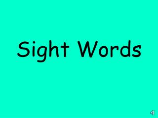 K sight words