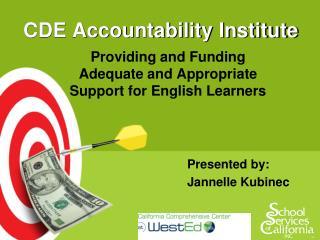 CDE Accountability Institute