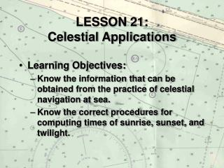lesson 21: celestial applications