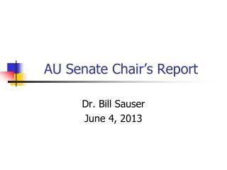 AU Senate Chair's Report