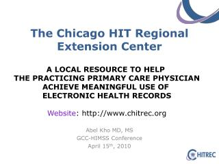 The Chicago HIT Regional Extension Center