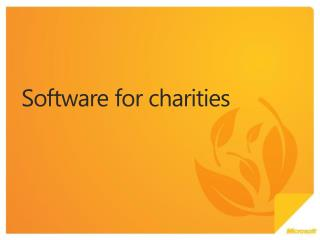 Software for charities