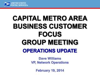 Capital Metro Area Business  Customer Focus Group Meeting