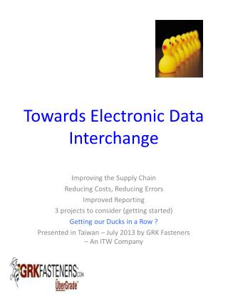 Towards Electronic Data Interchange