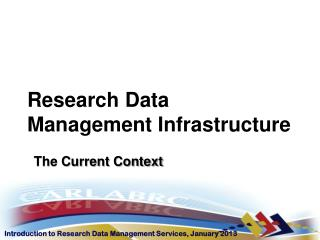 Research Data Management Infrastructure