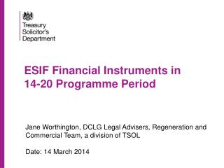 ESIF Financial Instruments in  14-20 Programme Period
