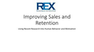 Improving Sales and Retention