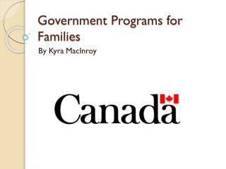 Government Programs for Families