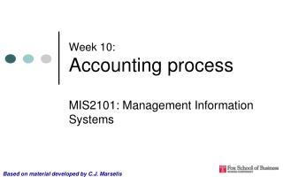 Week 10: Accounting process