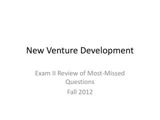 New Venture Development