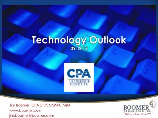 Technology Outlook 09.12.13