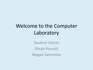 Welcome to the Computer Laboratory