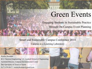 Smart and Sustainable Campus Conference 2014 Campus as a Learning Laboratory