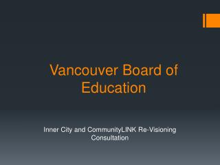 Vancouver Board of Education
