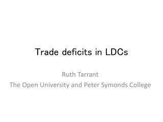 Trade deficits in LDCs