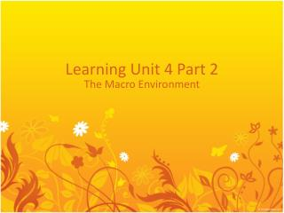 Learning Unit 4 Part 2