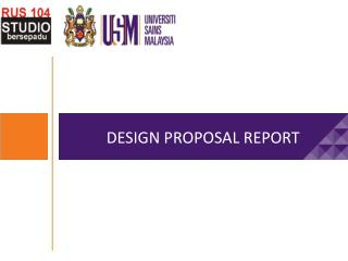 DESIGN PROPOSAL REPORT