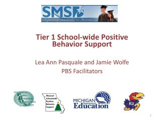 Tier 1 School-wide Positive Behavior Support  Lea Ann Pasquale and Jamie Wolfe PBS Facilitators