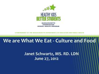 We are What We Eat - Culture and Food