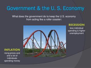 Government & the U. S. Economy