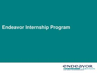 Endeavor Internship Program