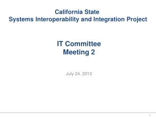 IT Committee Meeting 2