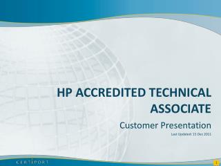 HP Accredited technical associate
