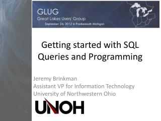 Getting started with SQL Queries and Programming