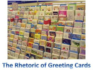 The Rhetoric of Greeting Cards