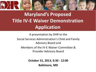 Maryland's Proposed  Title IV-E Waiver Demonstration Application