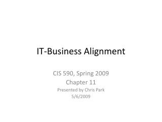 IT-Business Alignment