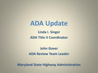 ADA Update