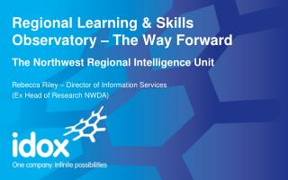 Regional Learning & Skills Observatory – The Way  Forward