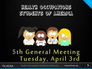 5th General  Meeting Tuesday,  April 3rd