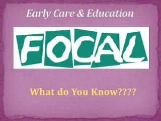 Early Care & Education