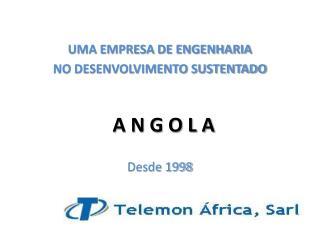 UMA EMPRESA DE ENGENHARIA NO DESENVOLVIMENTO SUSTENTADO  Desde  1998