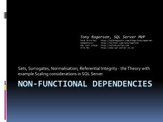 Non-Functional Dependencies