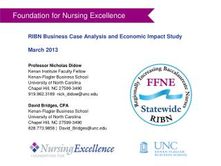 RIBN Business Case Analysis and Economic Impact Study March 2013
