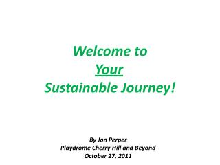 Welcome to  Your Sustainable Journey!