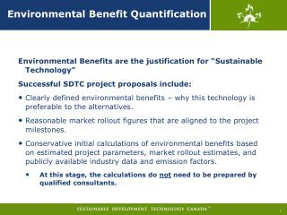 Environmental Benefit Quantification